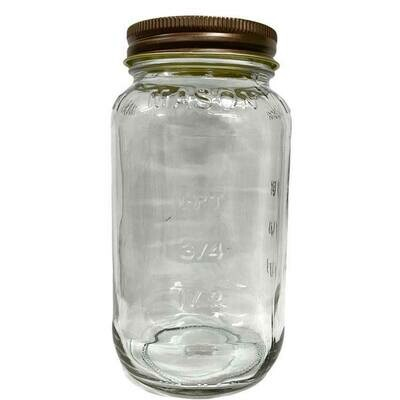 LUVU Beauty | DIY | Packaging | 25oz Mason Jar w/Antique Lid