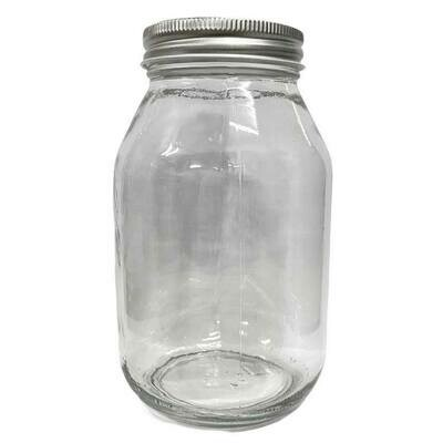 LUVU Beauty | DIY | Packaging | 32oz Clear Glass Jar w/Metal Lid