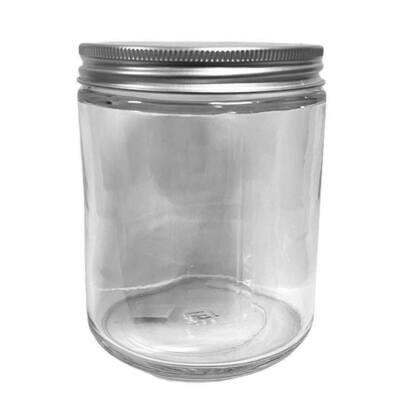 LUVU Beauty | DIY | Packaging | 8oz Clear Glass Jar w/Metal Lid