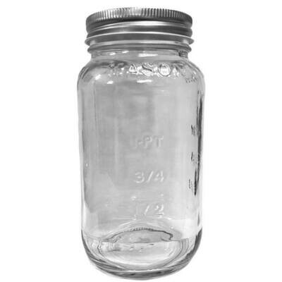 LUVU Beauty | DIY | Packaging | 25oz Clear Glass Jar w/Metal Lid