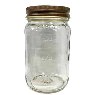 LUVU Beauty | DIY | Packaging | 16oz Mason Jar w/Antique Lid