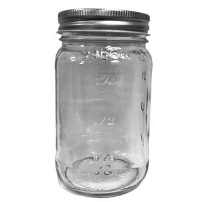 LUVU Beauty | DIY | Packaging | 16oz Clear Jar w/Metal Lid