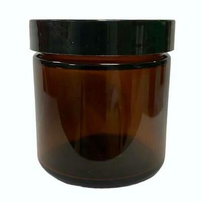 LUVU Beauty | DIY | Packaging | 4oz Glass Plastic Jar w/ Black Lid