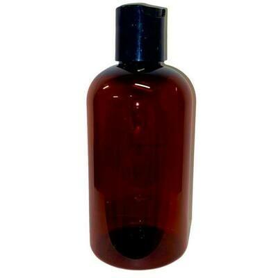 LUVU Beauty | DIY | Packaging | 8oz Amber Plastic Bottle w/Disc Cap