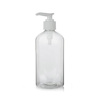 LUVU Beauty | DIY | Packaging | 16oz Clear Glass Bottle w/White Pump