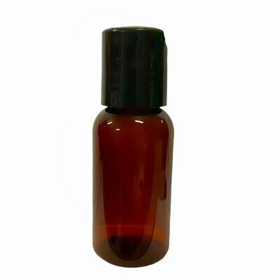 LUVU Beauty | DIY | Packaging | 1oz Amber Plastic Bottle w/Disc Cap