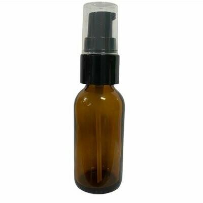LUVU Beauty | DIY | Packaging | 1oz Amber Glass Bottle w/Treatment Pump