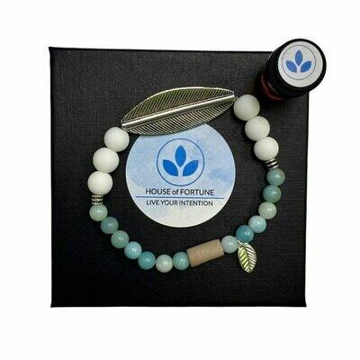 House Of Fortune | Single Aroma Bracelet | Amazonite