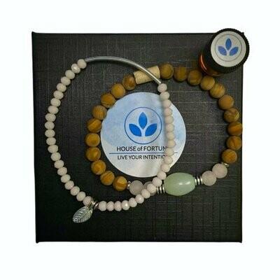 House Of Fortune | Double Aroma Bracelet | Rose Quartz