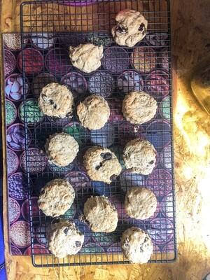 spelt & buckwheat hearty fruit scones.