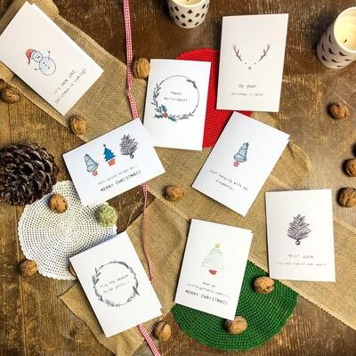 Christmas Cards - Cheesy puns