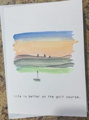 Golfer Birthday Card (2 Options)