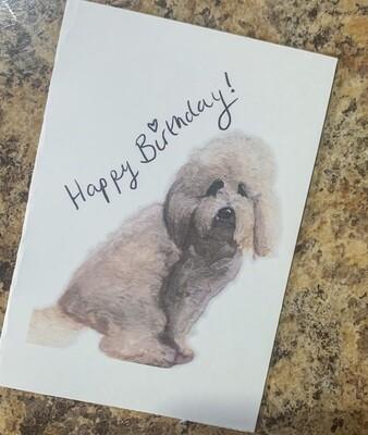 Cockapoo Birthday Card