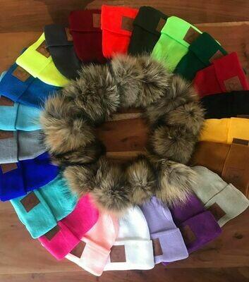Tuques à rebord en lainage