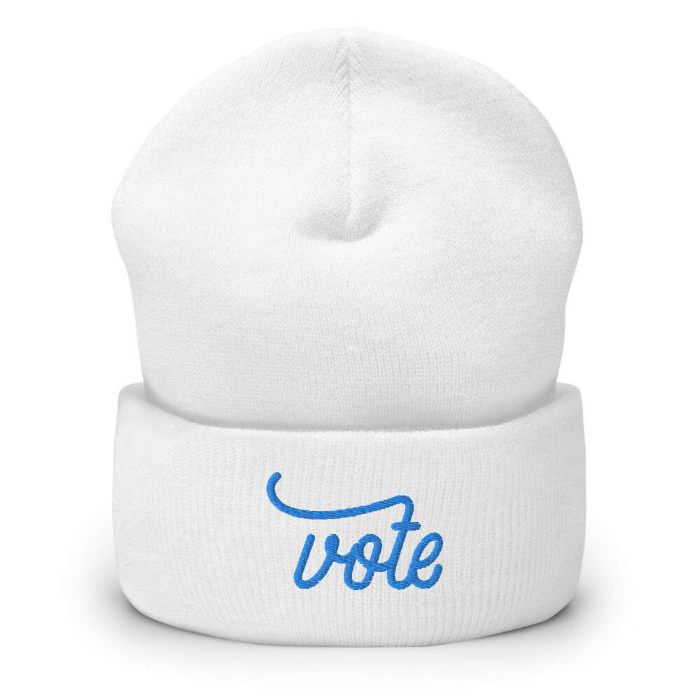 Vote Cuffed Beanie (Blue)