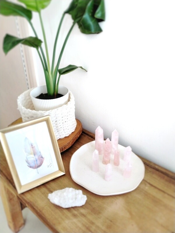 Rose Quartz Crystal Towers
