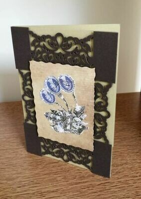 Greeting Card Bells Blue