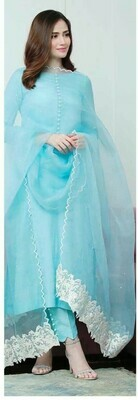 Straight Cut Salwar Suit (SKY)