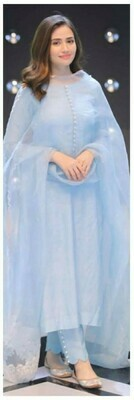 Straight Cut Salwar Suit (LIGHT BLUE)