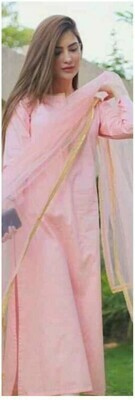 Straight Cut Salwar Suit (PINK)
