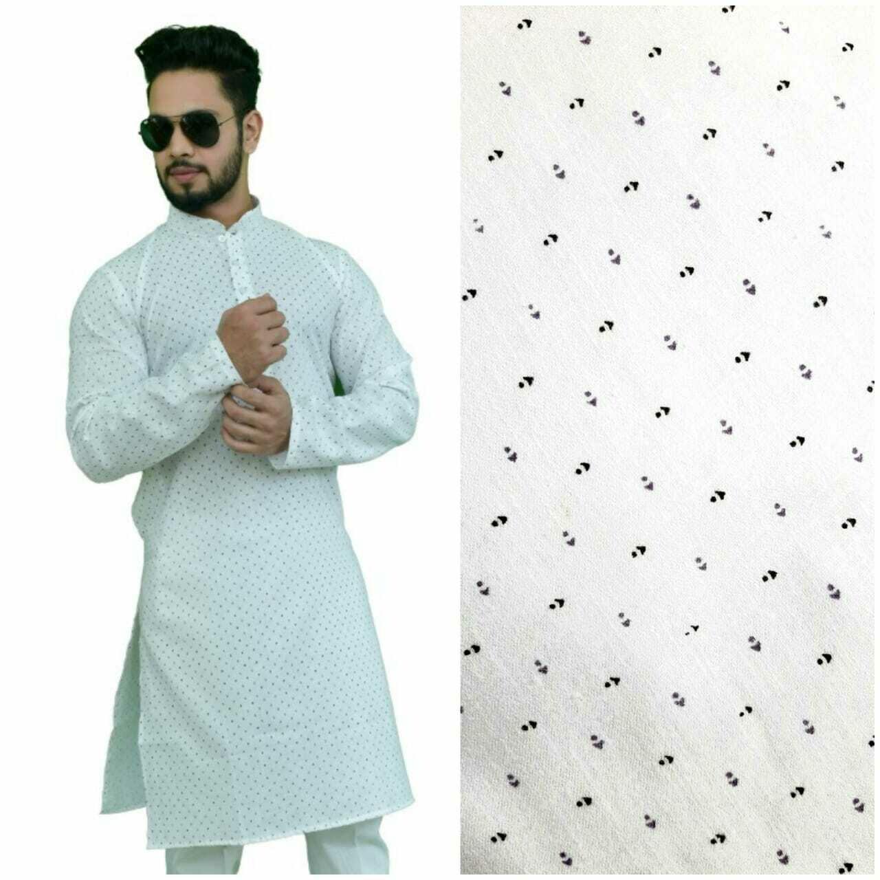 Men Printed Cotton Blend Straight Kurta with Pant (Multi Design)