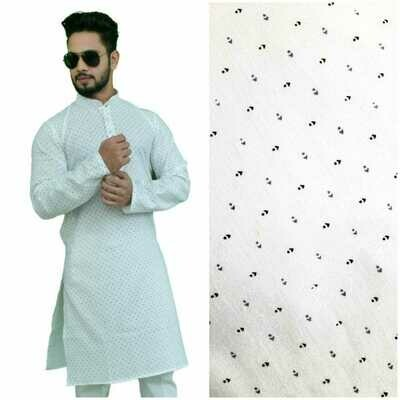 Men Printed Cotton Blend Straight Kurta with Pant (Multi Design)
