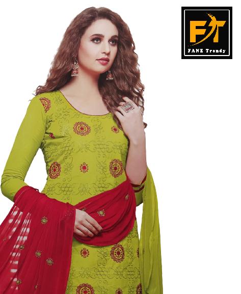 Floral Printed Salwar Suit (Unstitched)