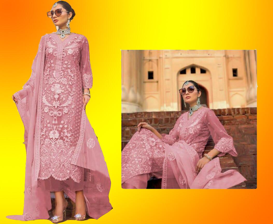 Straight cut Salwar Suit (Unstitched)