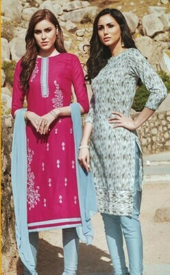 Crepe Printed Salwar Suit Material  (Unstitched)