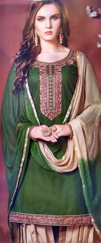 FANZ Trendy Patiyala Salwar Suit Material  (Unstitched)
