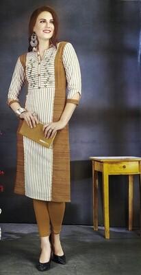 Women Stylish Cotton Blend Straight Kurta