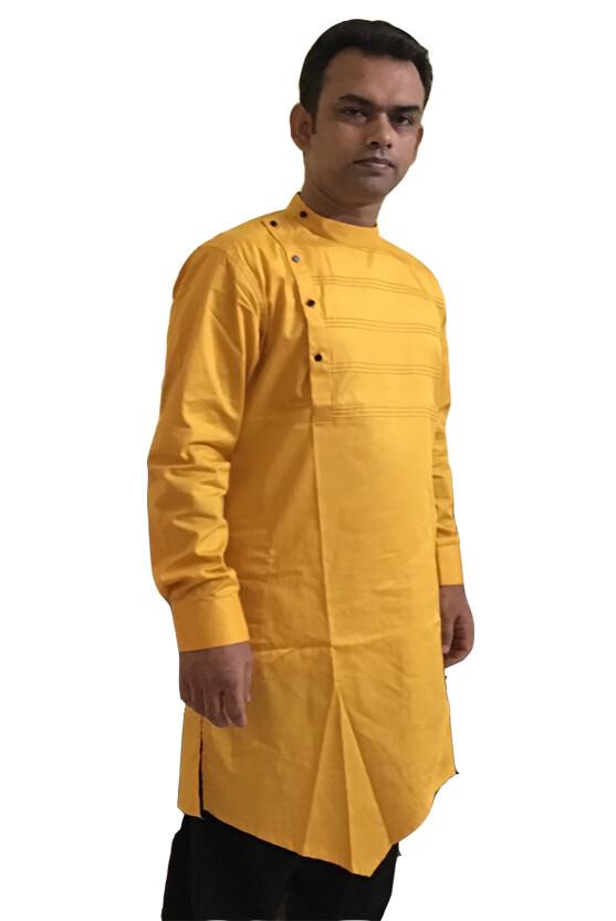 Cotton Kurta (Yellow)