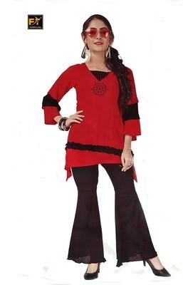 FANZ Trendy Women Kurta and Dhoti Pant Set Rayon, Cotton Blend