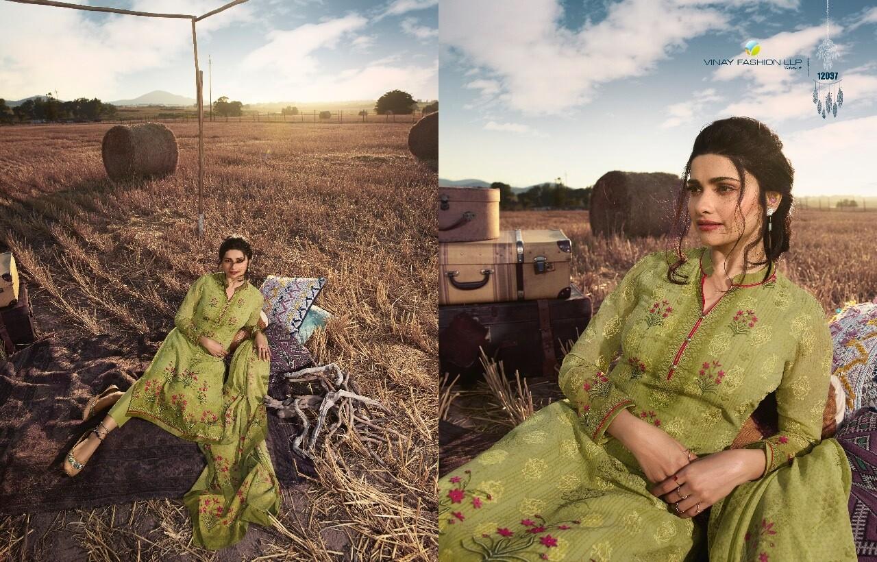 Vinay Kaseesh Fusion 2, Georgette With Embroidery Work & Digital Print Party Wear Unstitch Salwar Kameez Design
