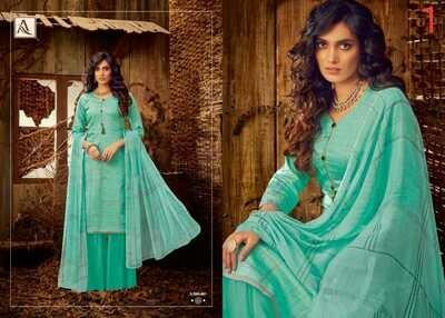 Alok Suits - Husnah - Pure Zam Cotton Collection
