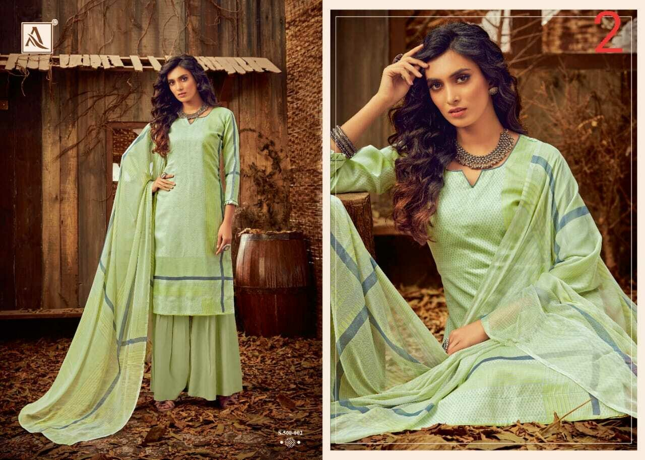 Alok Suits - Husnah - Pure Zam Cotton Collection