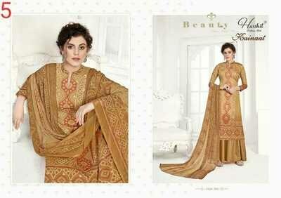 KAINAAT Zam Cotton Bandhni Digital Printed Dress Materials