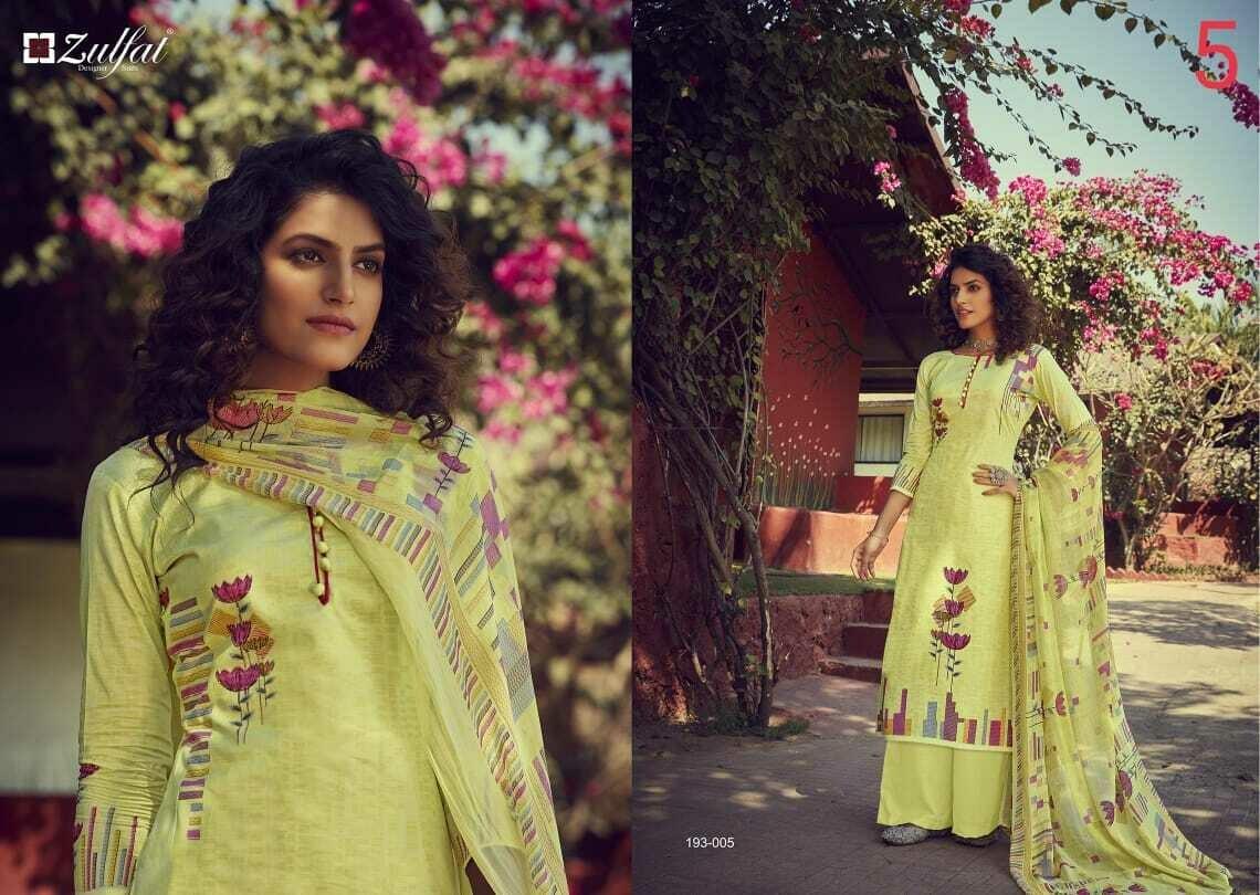 Zulfat Designer Suits Gulmohar