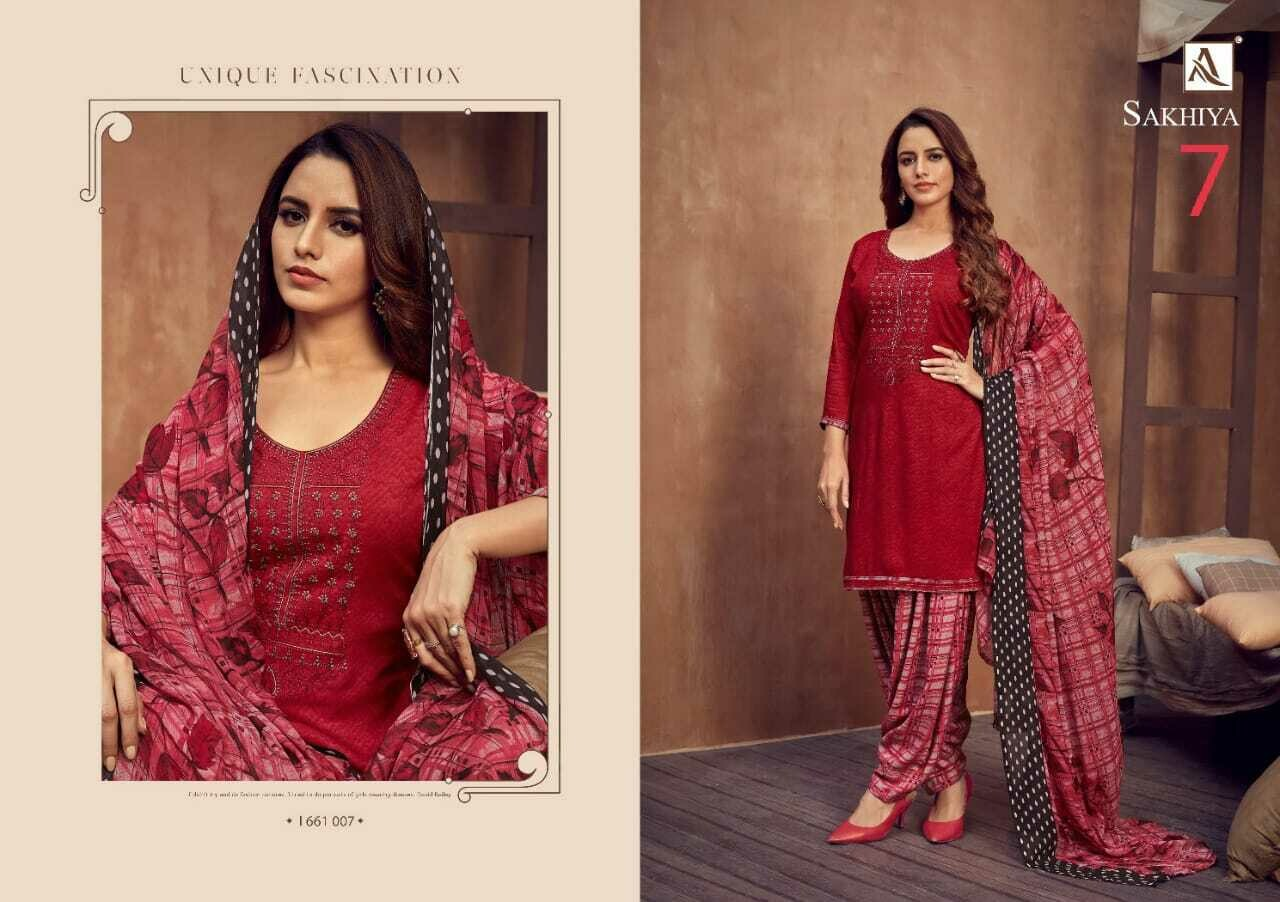 ALOK SUITS Catalog Sakhiya