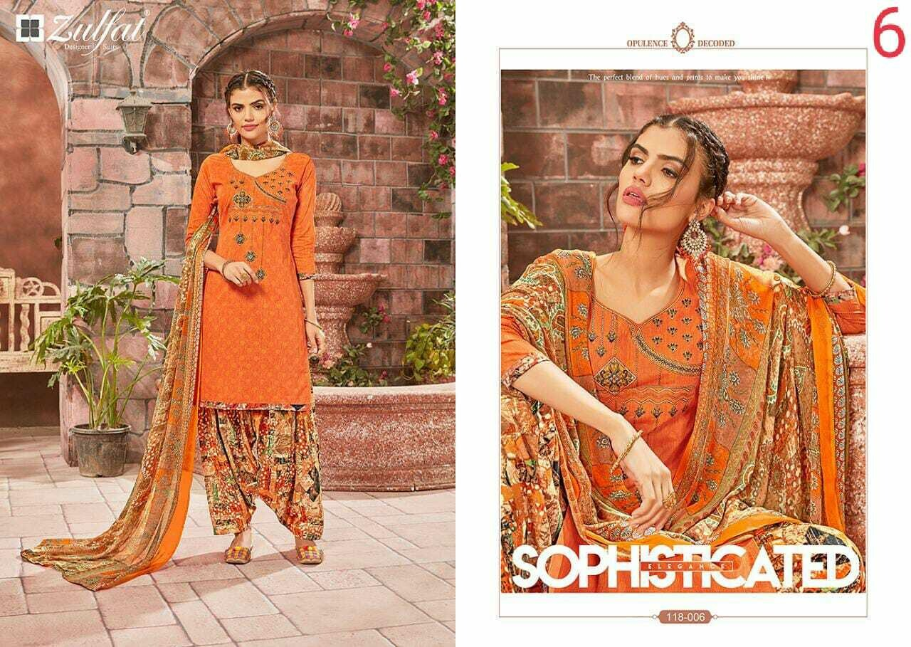 Zulfat Designer Suits Catalog Patiyala Bebes