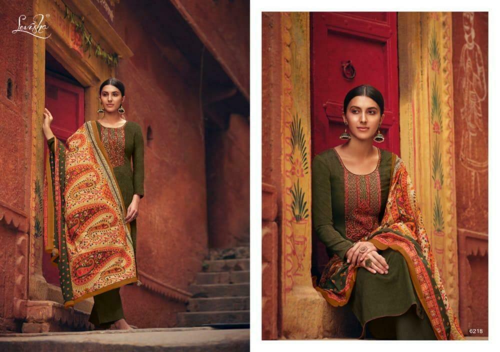 Levisha brand Panihari Pure Jam Cotton Embroidery With Embroidery