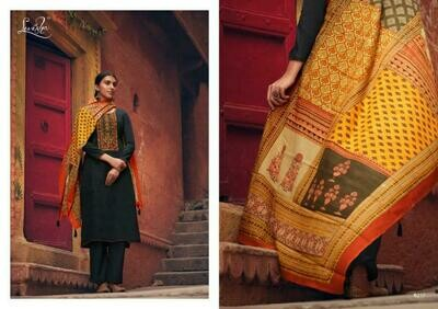 Levisha brand Panihari Pure Jam Cotton Embroidery With Embroidery