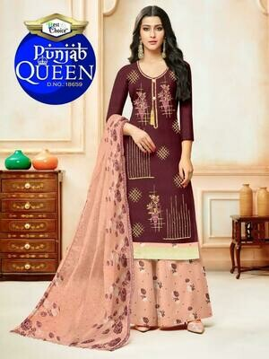 Punjab queen Print Heavy Indo Cotton