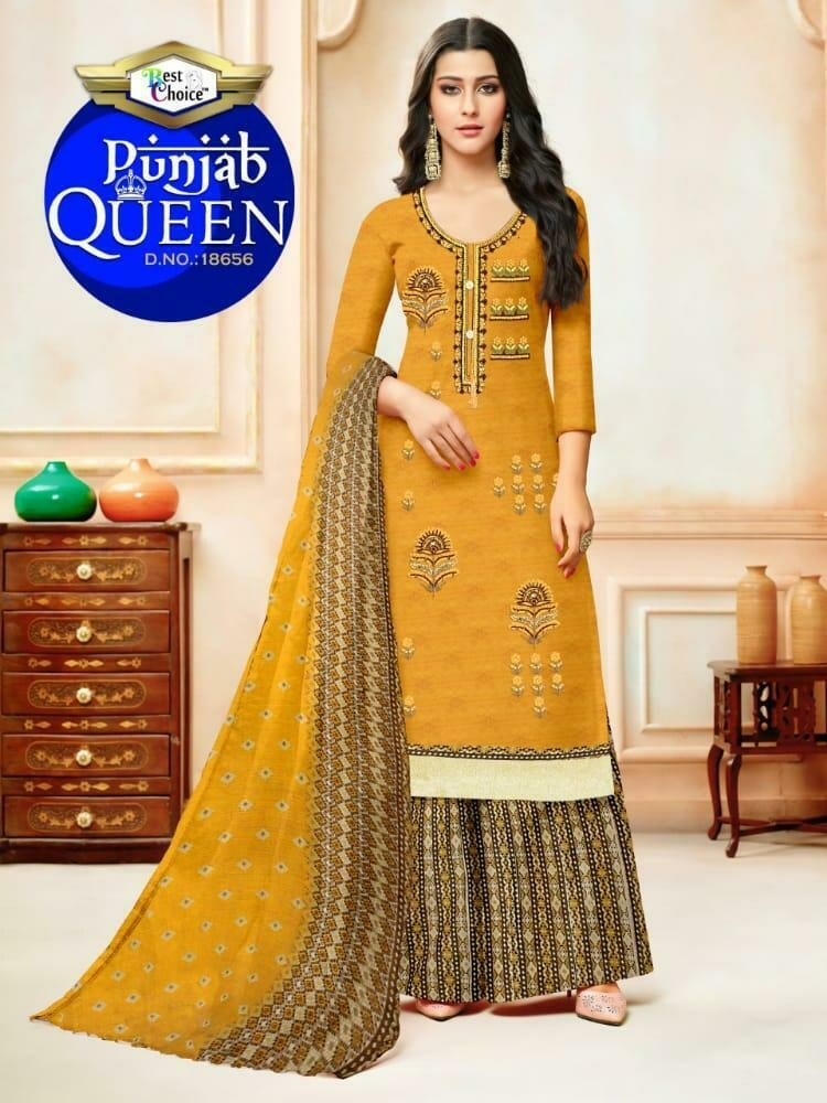 Punjab queen Print Heavy Indo Cotton