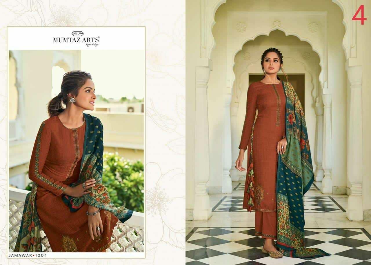 Mumtaz Arts Jamawar Pashmina Salwar Suit Wholesale Catalog