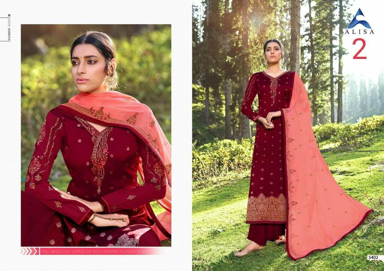Alisa SMF brand Mehera catalog Silk Jacquard Collection