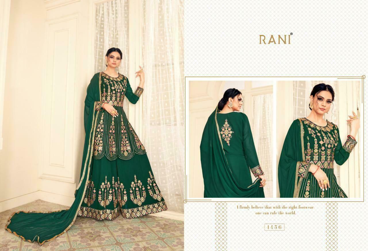 Rani trendz Adah Stylish Multi Sequence Work Top With Inner Santoon