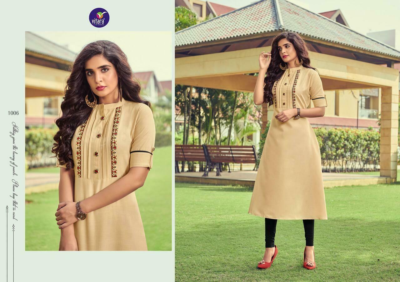 vitara fashion launches benchmark kurti