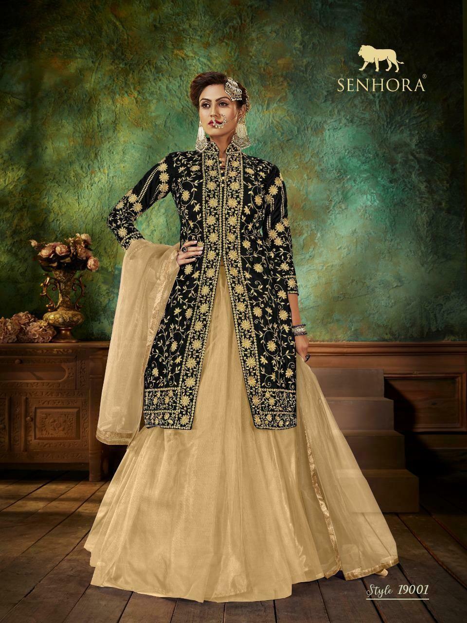 senhora zara new designer heavy dress catalog