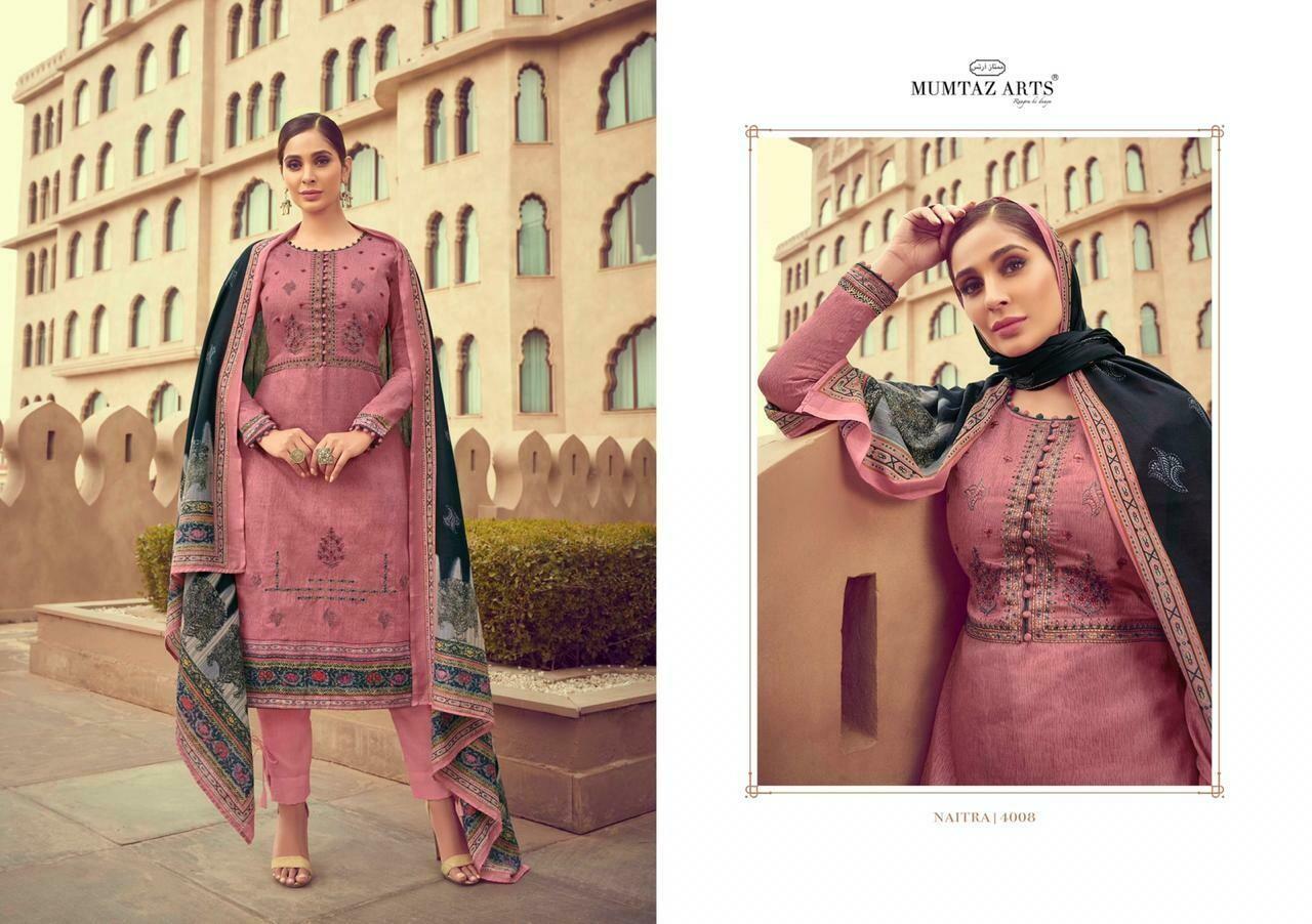 mumtaz arts naitra salwar suit wholesale catalog 8 pcs